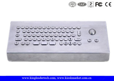 Brushed Stainless Steel USB Interface Industrial Keyboard WithTrackball